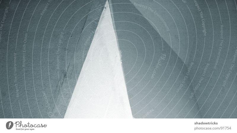 Abstrakter Minimalismus II weiß schwarz kalt grau Stein Linie Raum Architektur Beton modern Baustelle Quadrat Grenze Geometrie Fragen anonym