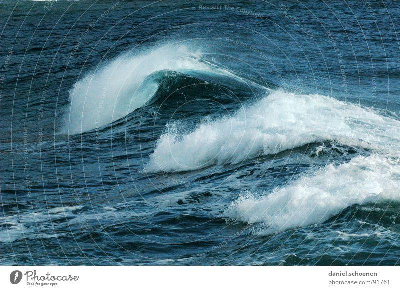 ~~~~ Wasser weiß Meer blau Strand Ferien & Urlaub & Reisen Wellen Hintergrundbild tauchen Schaum Mittelmeer Meerwasser