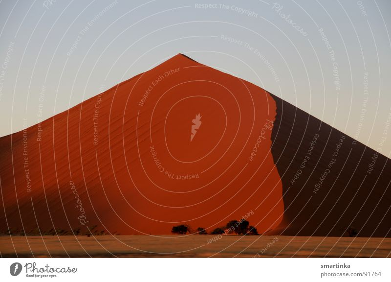 Staub zu Staub Sand Wüste dünn heiß trocken Stranddüne Respekt harmonisch Staub Koloss Namibia Namib Sandkorn Sossusvlei