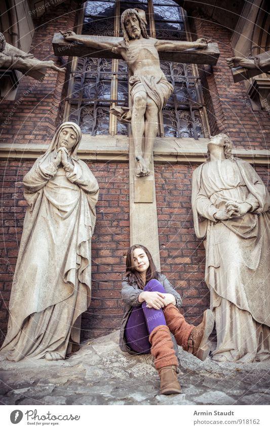 Passion Mensch Frau Kind Ferien & Urlaub & Reisen Jugendliche alt schön Erwachsene Wand feminin natürlich Mauer Religion & Glaube Kunst Lifestyle Tourismus