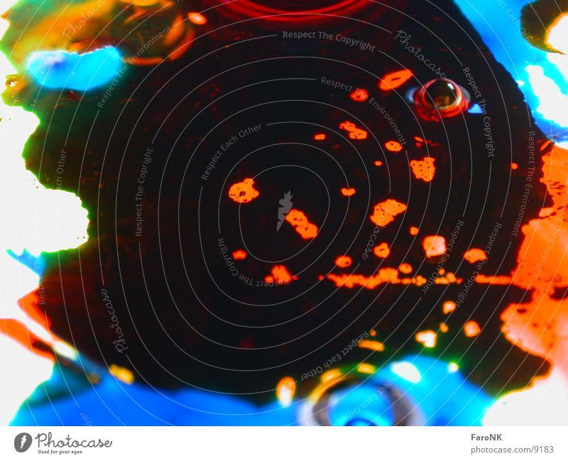 Klecks Fleck Tinte mehrfarbig Makroaufnahme Nahaufnahme Farbe