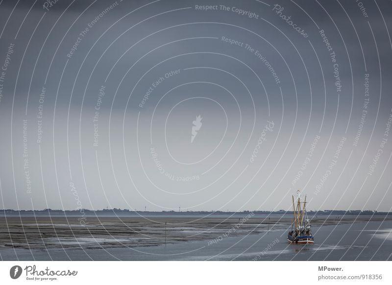 fischkutter Schifffahrt Fischerboot Hafen Schwimmen & Baden Kraft schlechtes Wetter Unwetter Meer Wasserfahrzeug Wolkendecke Regenwasser Wattenmeer