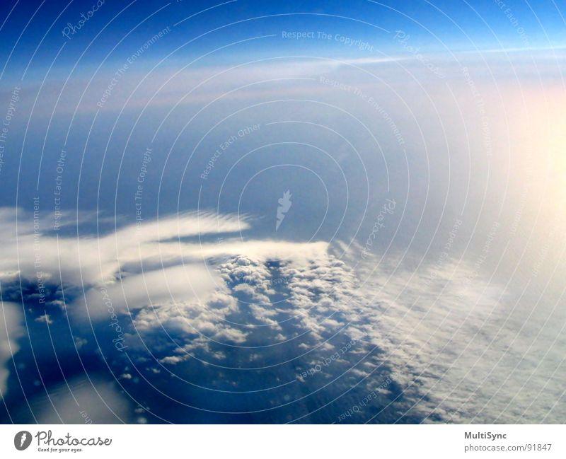 Der große Himmel Himmel Meer Ferien & Urlaub & Reisen Wolken Luftverkehr Insel Weltall Island Flugzeugausblick