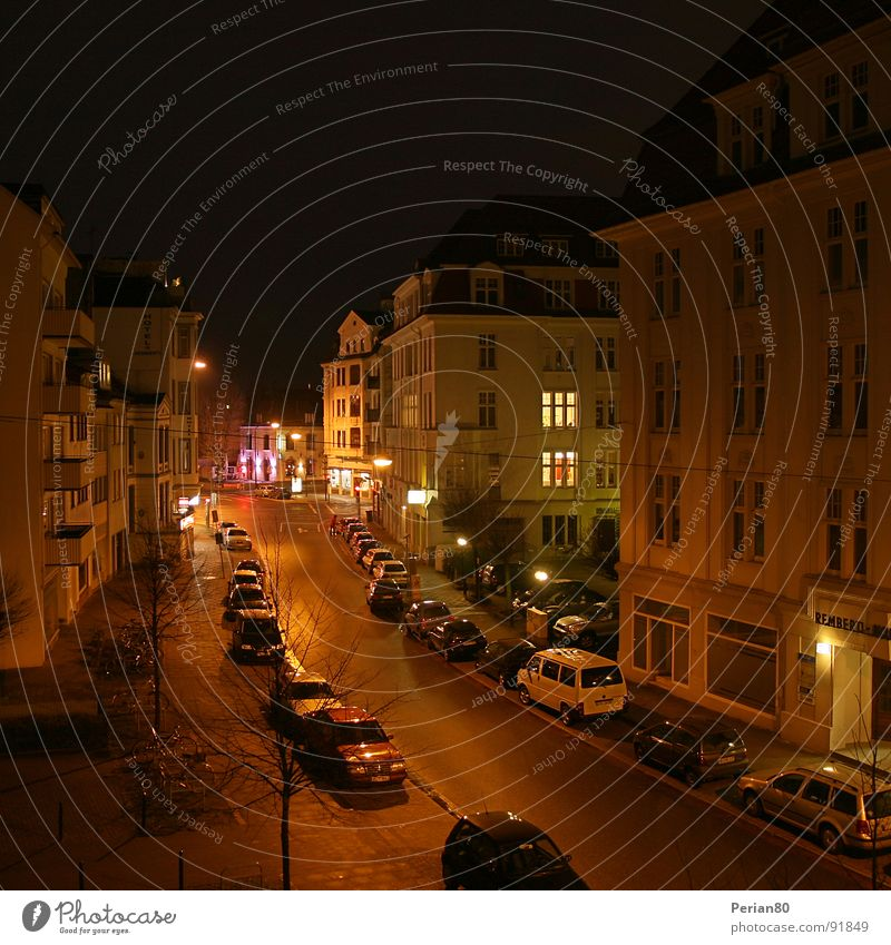 Night Live Nacht Haus Licht Fenster ruhig Verkehrswege Straße PKW DRI