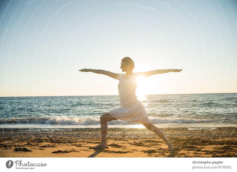 Sonnengruß V Leben harmonisch Wohlgefühl Zufriedenheit Erholung Meditation Freizeit & Hobby Ferien & Urlaub & Reisen Sommer Sommerurlaub Strand Meer Sport