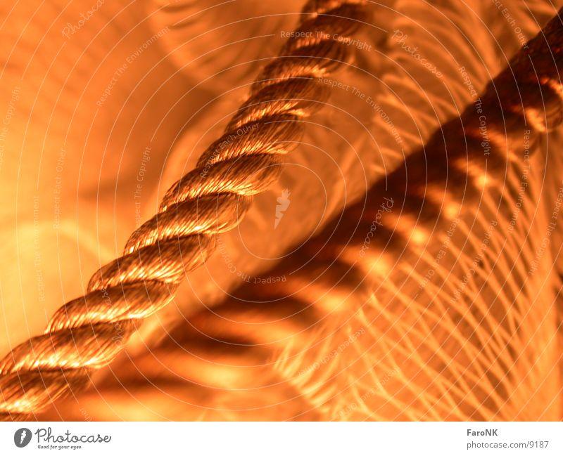 Kordel rot Makroaufnahme Nahaufnahme Seil Netz Schnur