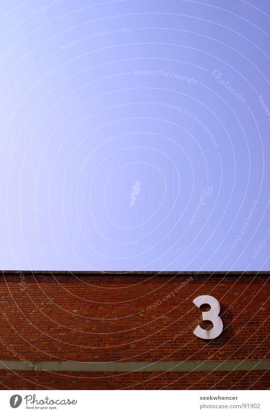 three is the loneliest number Himmel Wand 3 Hafen Backstein Bremen