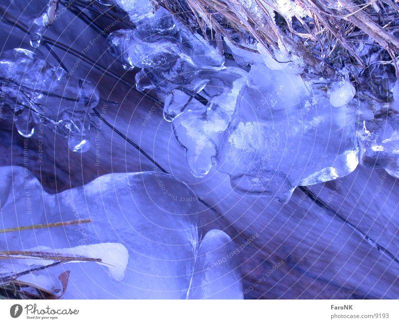WinterBach Wasser blau Eis Gewässer
