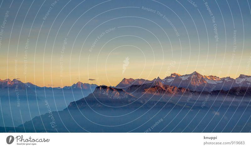 Wohlfühloase | Berge Himmel Natur blau Sommer Sonne rot Landschaft kalt Umwelt Berge u. Gebirge Herbst Schnee außergewöhnlich Felsen Horizont Luft