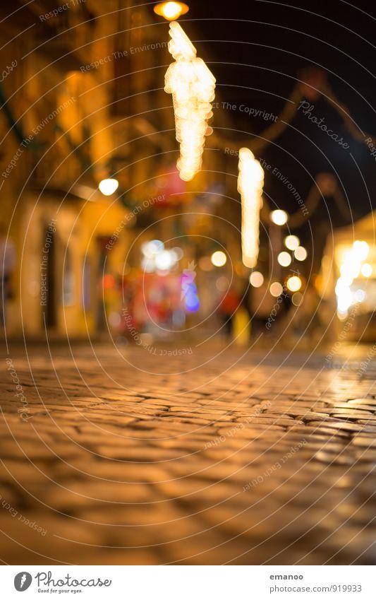 Italia Ferien & Urlaub & Reisen Stadt Weihnachten & Advent Haus Straße Beleuchtung Wege & Pfade Gebäude Lampe hell Tourismus Ausflug Platz Italien