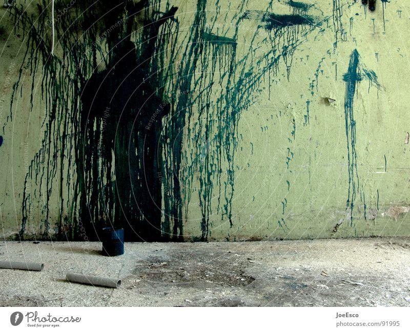 big splash Farbe dunkel Wand Stil Bewegung Farbstoff Stimmung Kunst dreckig Rücken wild verfallen Verfall trashig Dynamik schäbig