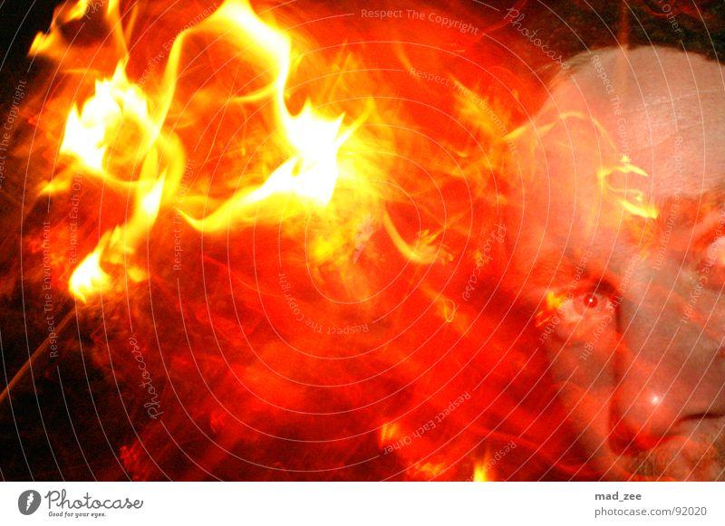 Fire expirience 01 rot gelb Verwirbelung abstrakt Feuer Brand Dani orange