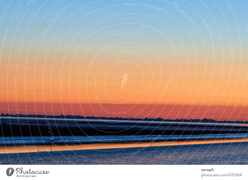 Wattenmeer Sonnenuntergang Nacht Himmel Lichterscheinung Hintergrundbild Natur Umwelt Atmosphäre Urelemente Szene Abenddämmerung Landschaft Dämmerung romantic