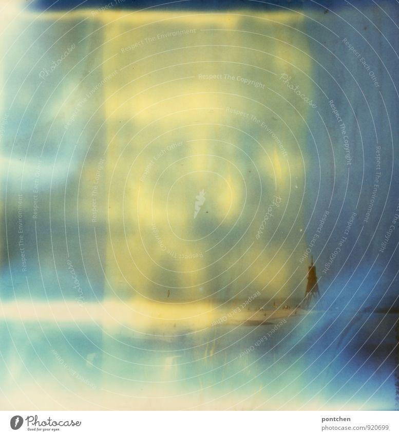 Blick vom Strand. Kugelbake Cuxhaven. Polaroid. Ferien & Urlaub & Reisen Tourismus Meer blau Himmel kugelbake Wahrzeichen Niedersachsen Nordsee Seezeichen