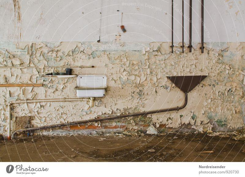 Retro Grabbelkiste Renovieren Innenarchitektur Raum Bad Keller Architektur Mauer Wand alt dreckig Nostalgie skurril stagnierend Verfall Vergänglichkeit