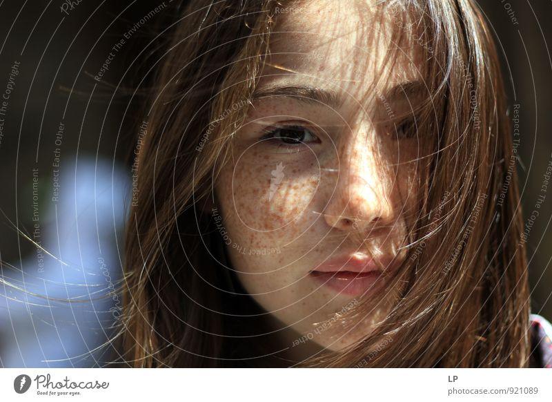E Mensch feminin Mädchen Junge Frau Jugendliche Haut Haare & Frisuren Gesicht Auge Nase Lippen 1 13-18 Jahre Kind langhaarig Blick Fröhlichkeit schön Vorfreude
