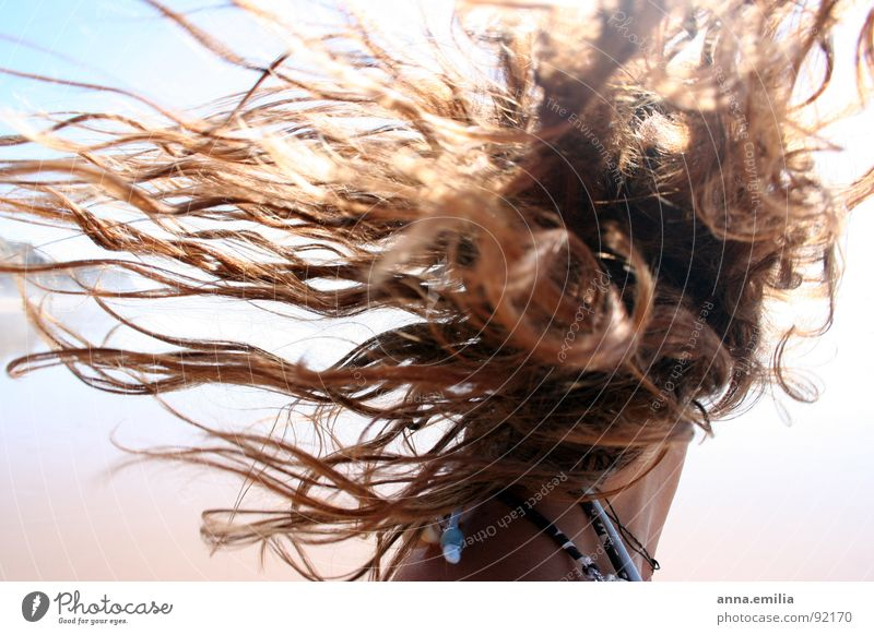 Hair Strand Portugal Meer Wellen Freude Johanna Sonne Haare & Frisuren Wind