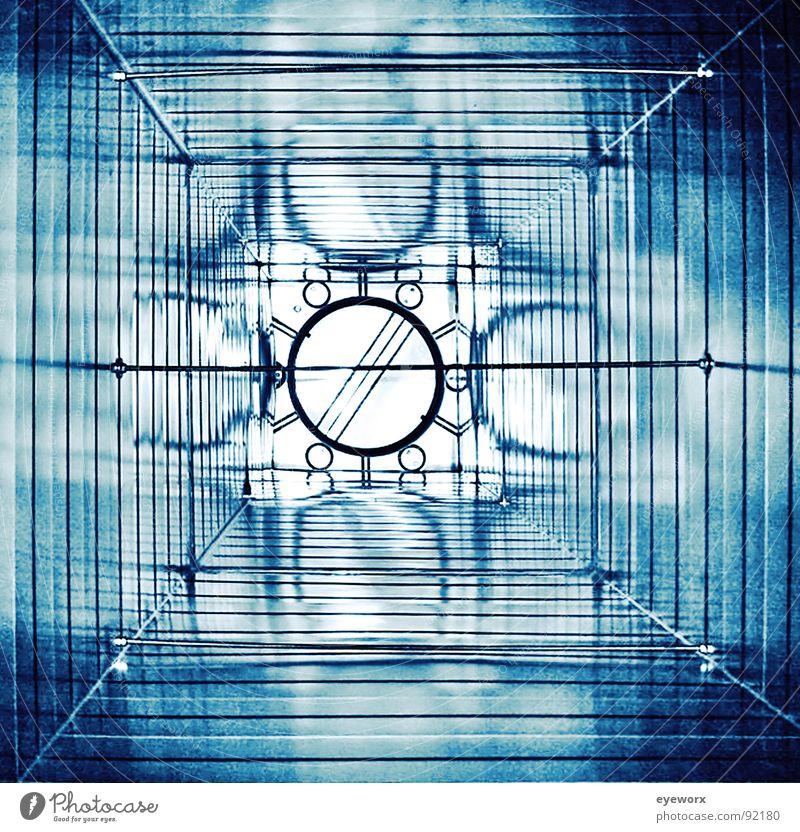 Ventilator blau Metall Wind Industrie Rauch Schornstein Kamin Blech Schacht Lüftung Sog