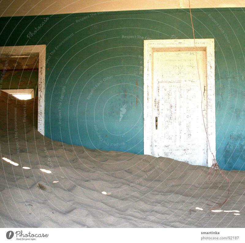 Wüstenwohnschaft I Sand Wüste Verfall Denkmal Ruine Wahrzeichen Namibia Geisterstadt Lüderitz
