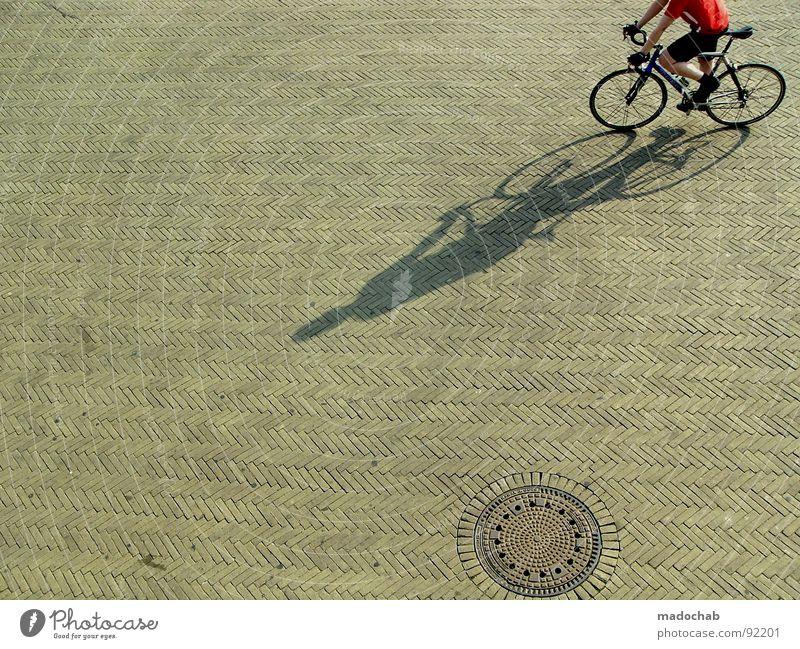 ERDNUSSBUTTER & FRÜHSTÜCKSFLEISCH Fahrradfahren Beton Sommer Freizeit & Hobby Mobilität Gully Gesundheit Mann Sport Spielen fhrrad Schatten sports Fitness