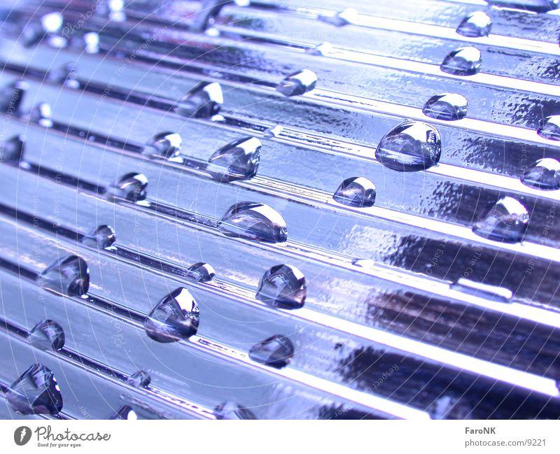 Tropfen Wasser blau Glas Wassertropfen