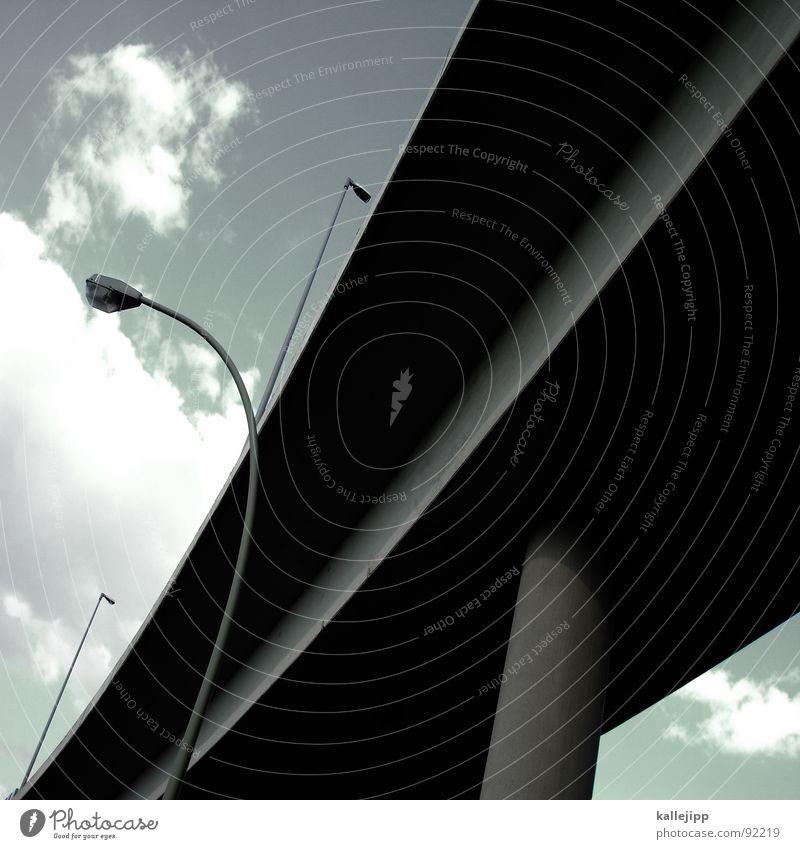 y III Laterne Lampe Straßenbeleuchtung Autobahn Buchstaben Säule Strebe Brückenpfeiler Autobahnzubringer Architektur autobahnbrücke a 100 Lateinisches Alphabet
