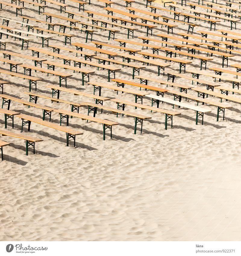 public viewing Freude Ferien & Urlaub & Reisen Ausflug Sommerurlaub Strand Insel Jahrmarkt Weltmeisterschaft Tribüne Sportveranstaltung Umwelt Landschaft Sand