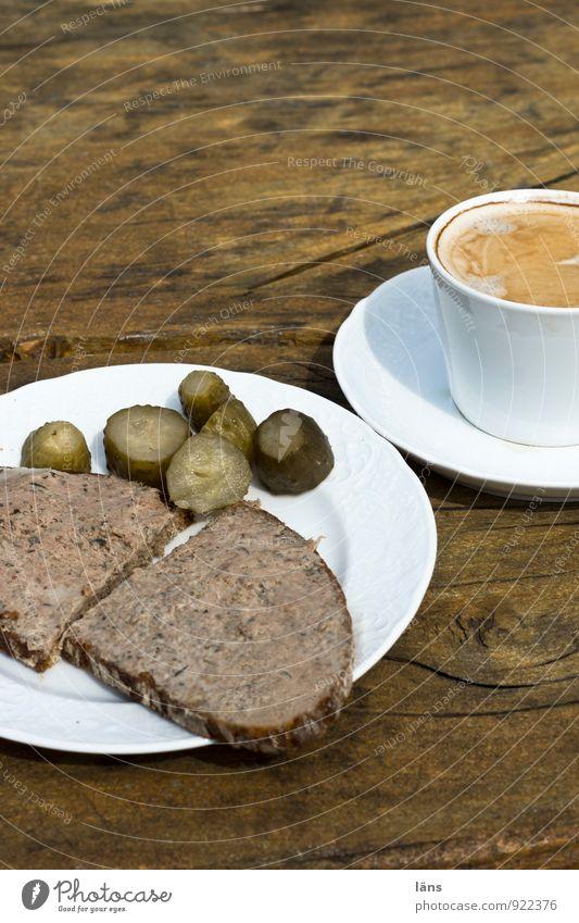 Hofladen Dinner ... Lebensmittel Wurstwaren Brot Ernährung Kaffeetrinken Gewürzgurke Leberwurst Leberwurstbrot Teller Tasse Ferien & Urlaub & Reisen Tourismus