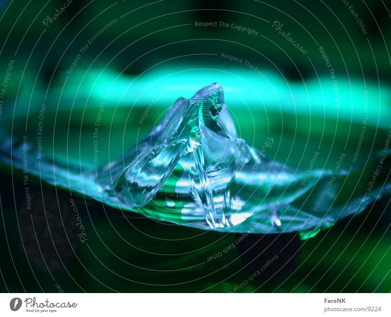 Teeglas Scherbe Makroaufnahme Nahaufnahme Glas