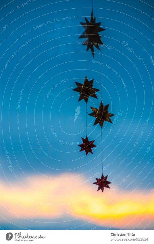 Weihnachtssterne Himmel Weihnachten & Advent schön Freude Winter Anti-Weihnachten Gefühle Feste & Feiern Stimmung Design träumen Zufriedenheit