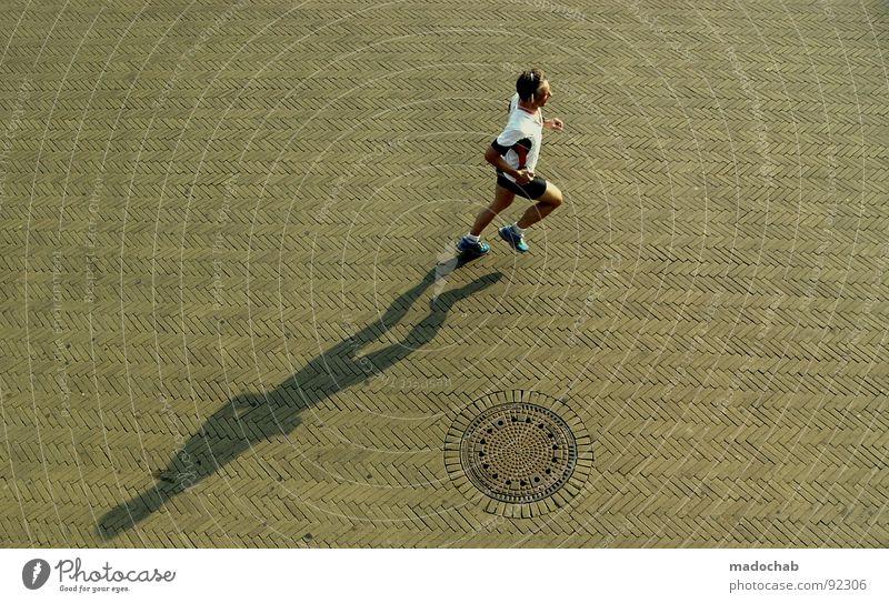 DO THE FORREST Joggen Open Air Bewegung Freizeit & Hobby Gesundheit Mensch Mann Jogger Sport Fitness laufen sports rennen Schatten Außenaufnahme