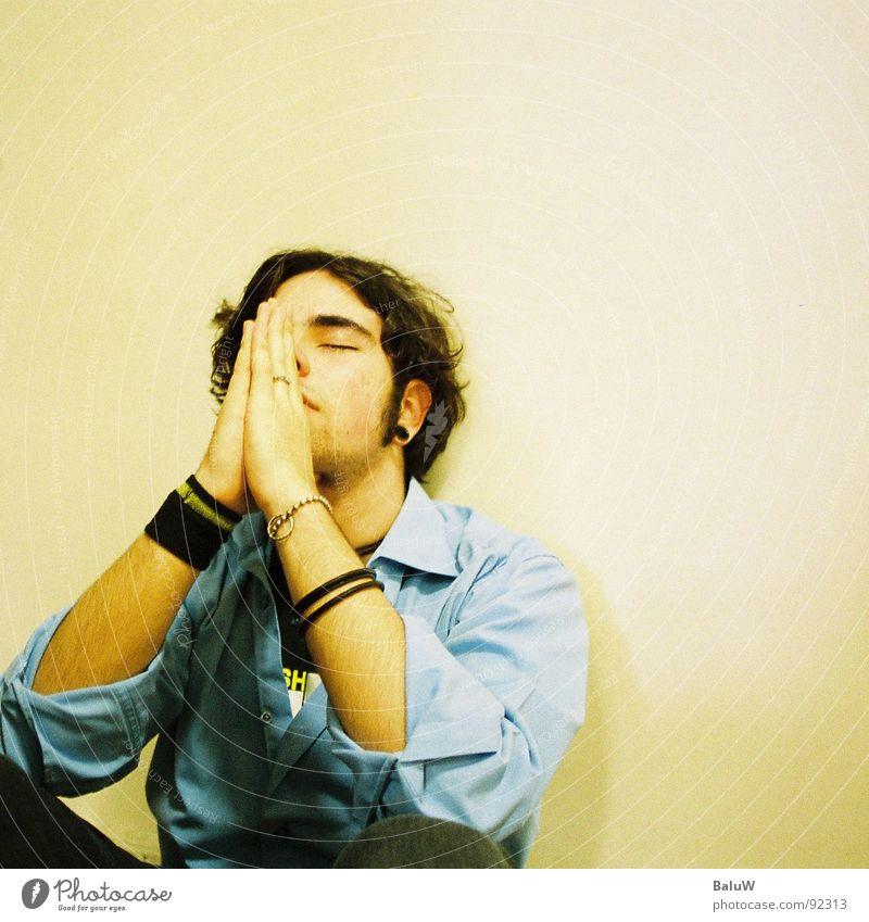 bitte langhaarig Stress Wunsch Gebet Quadrat Wand Armband Hemd Jugendliche hell