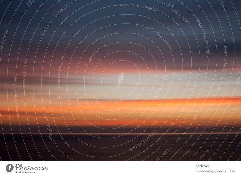 Der Tag geht ... Himmel Ferien & Urlaub & Reisen Sommer Erholung Meer Einsamkeit rot Wolken Ferne dunkel Wärme Bewegung Horizont orange Zufriedenheit ästhetisch