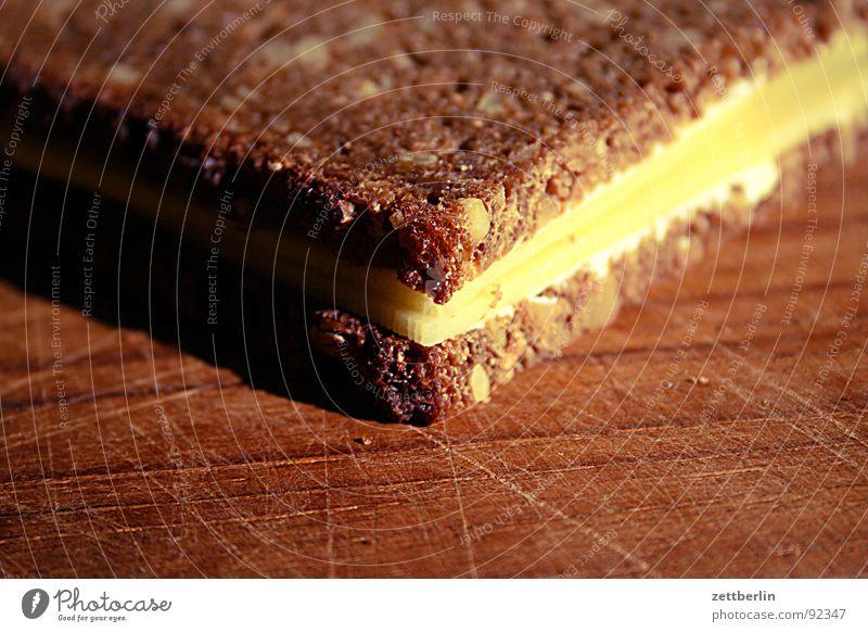 Käsestulle Ernährung Küche Gastronomie Brot Sonnenblume Abendessen Briefumschlag Vesper Imbiss Belegtes Brot Butter Gouda Milcherzeugnisse Molkerei