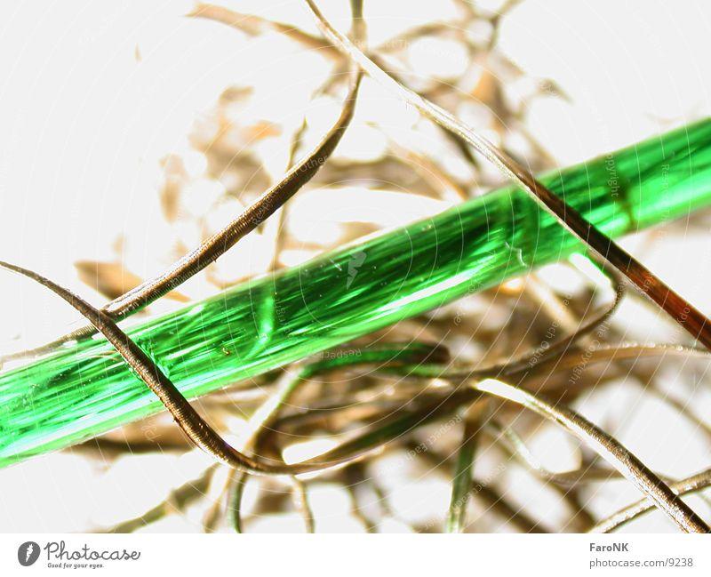 GrünStreifen grün Metall Glas Stab