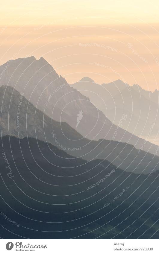 Seelenbalsam | das erste Tageslicht Ferien & Urlaub & Reisen Abenteuer Ferne Freiheit Berge u. Gebirge Natur Landschaft Himmel Sonnenaufgang Sonnenuntergang