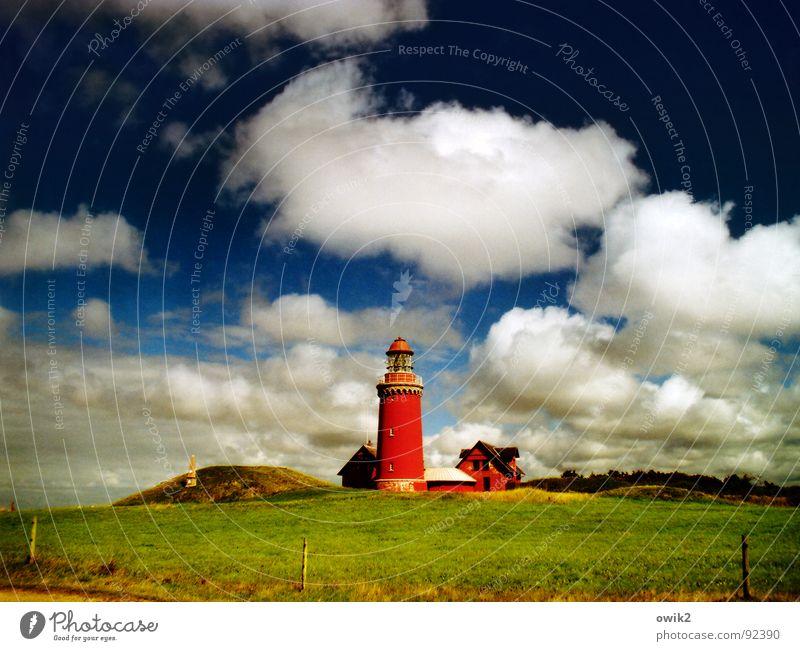 Bovbjergs fyr Ferien & Urlaub & Reisen Tourismus Ausflug Ferne Freiheit Sightseeing Sommerurlaub Strand Meer Haus Wiese Küste Menschenleer Leuchtturm