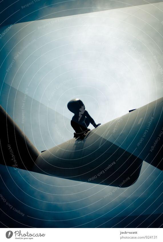 Evolution 1100 Mensch Himmel Wege & Pfade außergewöhnlich Metall Angst Design fantastisch Beton Neugier Wachsamkeit Geister u. Gespenster Irritation Kleinkind skurril Surrealismus