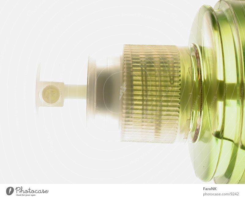 Spray grün Makroaufnahme Nahaufnahme Flasche