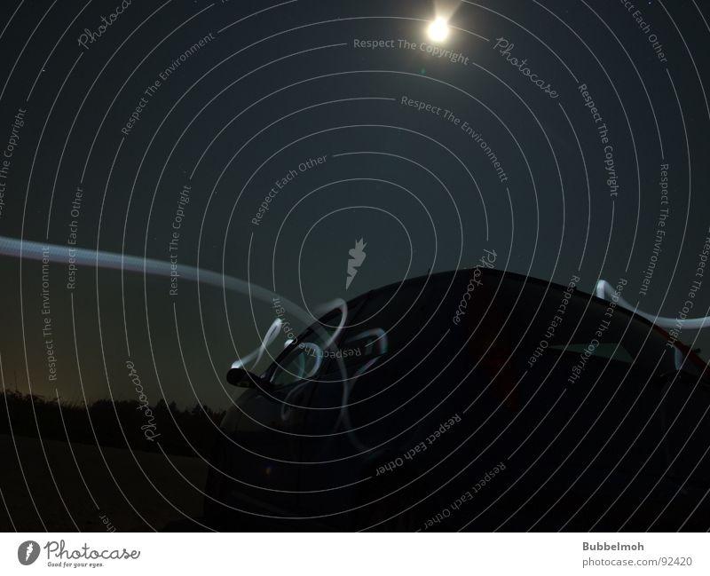 Moonlight-Shadow Nacht Abenddämmerung Zauberei u. Magie Langzeitbelichtung Himmelskörper & Weltall PKW Mond Dunkelelheit Licht Stern (Symbol)