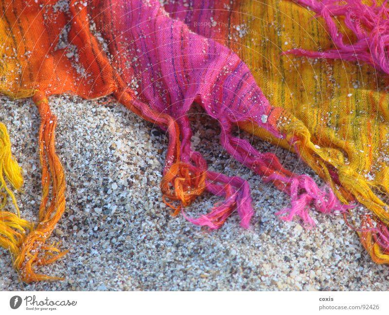 Sand & Color Strand Sommer gelb rosa Bekleidung colorful textile femenine clothes orange