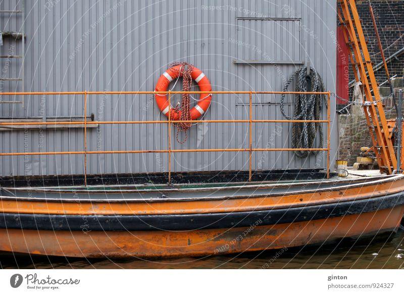 Wartungshäuschen Natur Wand Architektur Küste Gebäude Mauer Wasserfahrzeug Metall Verkehr einfach retro Güterverkehr & Logistik Sicherheit Fluss Kunststoff Hafen
