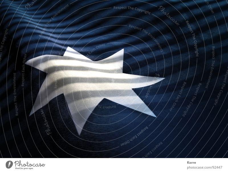The Commonwealth Star Weihnachten & Advent blau weiß ruhig Glück träumen glänzend Dekoration & Verzierung Zukunft Stern (Symbol) Streifen schlafen Hoffnung