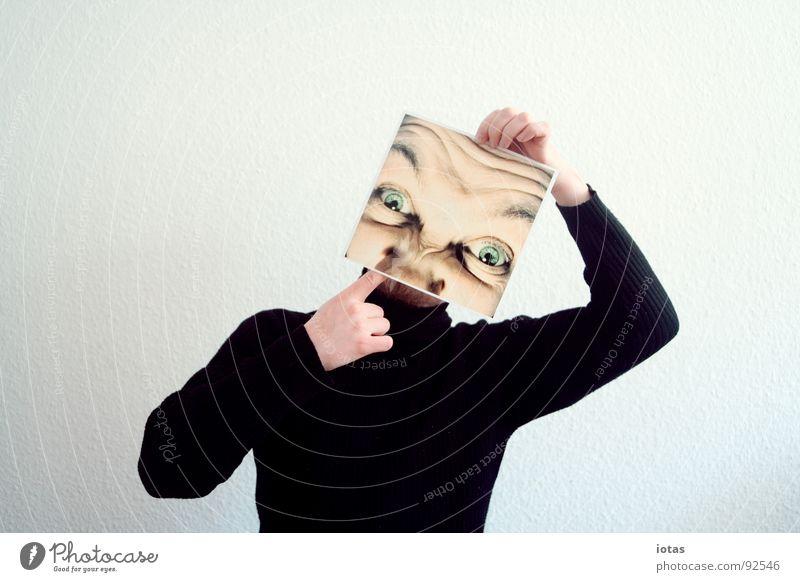 unerzogen Freude Gesicht Auge Kopf Kraft planen Nase Suche Kraft abstrakt Wissenschaften Schmerz Ekel Aggression Täuschung gestikulieren