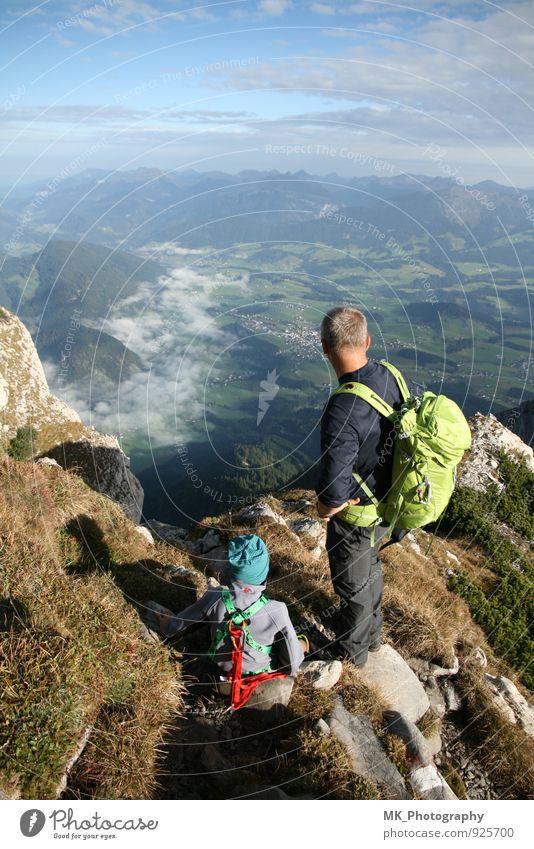TOP sportlich Ferien & Urlaub & Reisen Sommer Berge u. Gebirge wandern Sport Klettern Bergsteigen Mensch maskulin Kind Mann Erwachsene Eltern