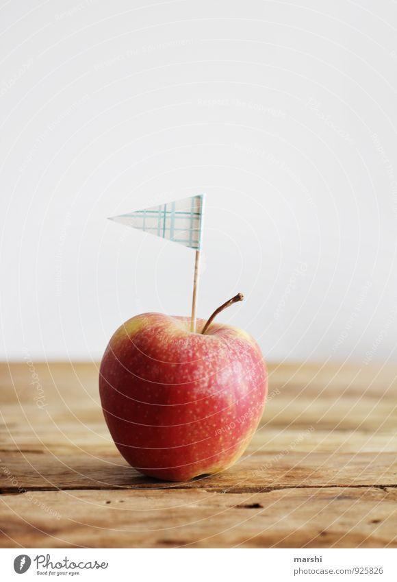APPLE AHOI Gesunde Ernährung Essen Gesundheit Stimmung Lebensmittel Stadt Essen Frucht Dekoration & Verzierung Fahne Apfel Holztisch Snack Aussage Ahoi