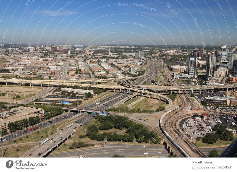 Dallas Downtown Ferien & Urlaub & Reisen Ferne Architektur Freiheit Stein Horizont Energiewirtschaft Fassade Business Tourismus Verkehr Hochhaus Energie Beton Industrie fahren
