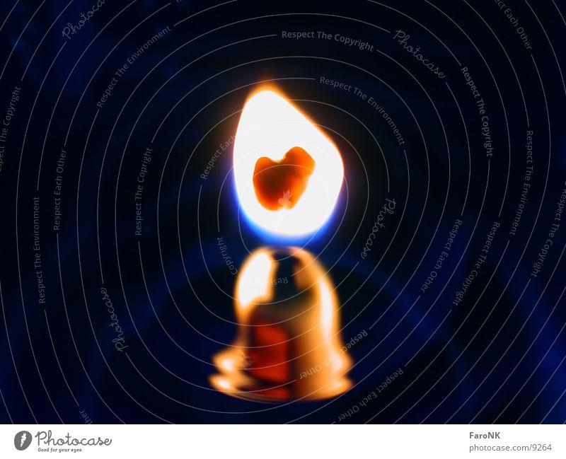Flamme Kerze Makroaufnahme Nahaufnahme Brand
