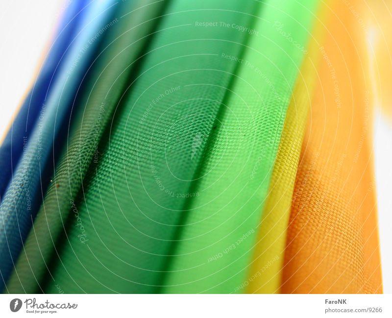 Regenschirm mehrfarbig Makroaufnahme Nahaufnahme Farbe