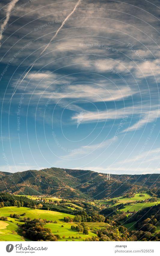 Schwarzwald Himmel Natur schön Erholung Landschaft Wolken Wald Berge u. Gebirge Wiese natürlich Stimmung Tourismus Ausflug Schönes Wetter